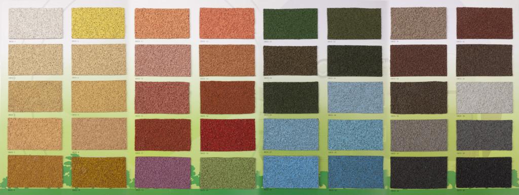 Carta de colores del corcho proyectado decoproyec